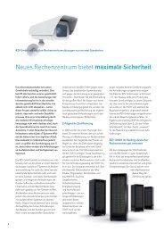 Neues Rechenzentrum bietet maximale Sicherheit - RZV GmbH