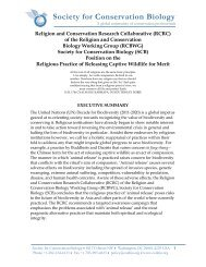 Religion and Conservation Research Collaborative (RCRC)