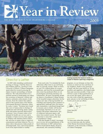 Director's Letter - The Scott Arboretum of Swarthmore College
