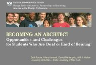 BECOMING AN ARCHITECT - Institute for Human Centered Design