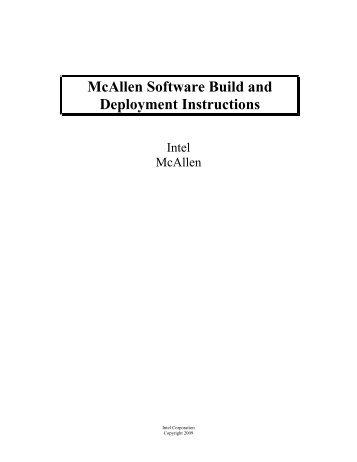 McAllen Software Build and Deployment Instructions - Intel