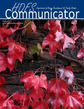 HDFS Communicator, Fall 2011 - Human Development and Family ...