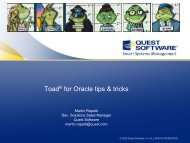 Toad® for Oracle tips & tricks - HrOUG