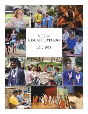 NCSSM COURSE CAtAlOG - North Carolina School of Science and ...