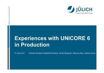 Managing UNICORE Production Environments