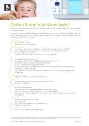 Checkliste für einen kindersicheren Haushalt - adfinity