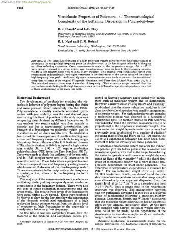 Viscoelastic Properties of Polymers. 4 ... - Polymer Physics