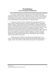 Grade 12 - Electives: World Religions - Howard County Public Schools
