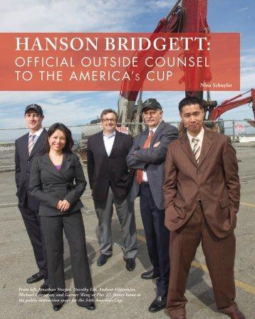 HANSON BRIDGETT: - The Bar Association of San Francisco