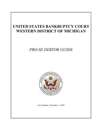 Pro Se Debtor Guide - Western District of Michigan