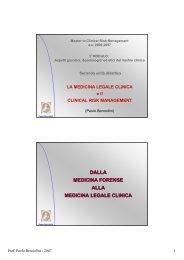 La Medicina legale clinica - Dipartimento di Medicina Ambientale e ...