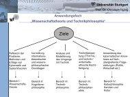 Wissenschaftstheorie und Technikphilosophie