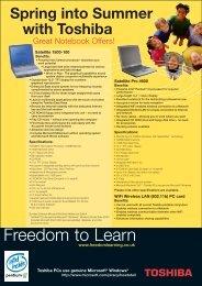 Freedom to Learn - Toshiba