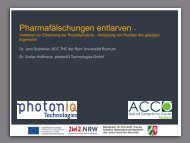Pharmafälschungen entlarven - Verfahren zur Erkennung der ...