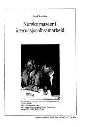 Norske museer i internasjonalt samarbeid - Museum Stavanger