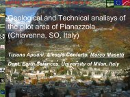 Geological and technical analysis of the pilot area ... - Project ALPTER