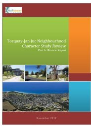 Torquay-Jan Juc Neighbourhood Character Study ... - Surf Coast Shire