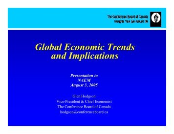 Global Economic Trends and Implications - NAEM