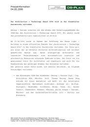 Presseinformation 04.05.2006 - DS-Plan
