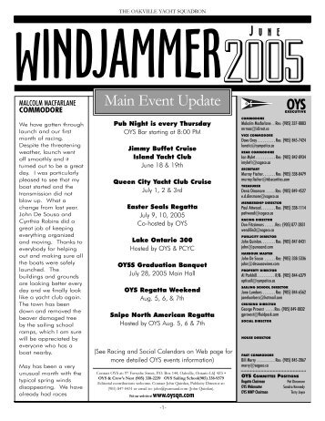 Windjammer June 05.qxd - Oakville Yacht Squadron