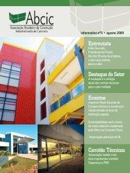 Entrevista Destaque do Setor Eventos Comitês Técnicos - ABCIC