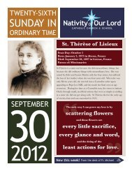 September 30, 2012 - Nativity of Our Lord