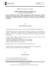 Regulamin uczestnictwa w projekcie - Lubelskie Centrum Edukacji ...