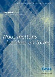 Nous mettons les idées en forme. - E. Pfister & Cie AG