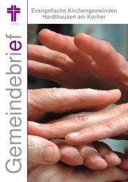 Gemeindebrief Frühjahr 2012 - Evangelische Kirchengemeinde ...