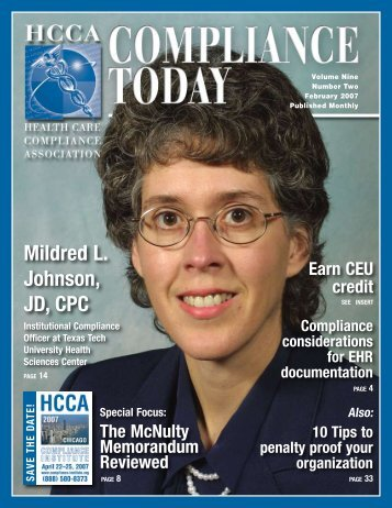 Mildred L. Johnson, JD, CPC - Health Care Compliance Association