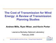 The Cost of Transmission for Wind Energy - Electricity Market and ...
