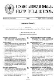 bizkaiko aldizkari ofiziala boletin oficial de bizkaia - Areatzako Udala
