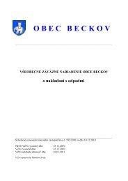 VZN o nakladaní s odpadmi na rok 2011 - Obec Beckov