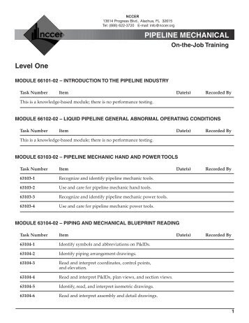 P-Pipeline Mechanical.pdf - NCCER