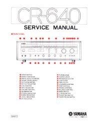 Yamaha CR-640 Receiver Service Manual - diagramas.diagram...