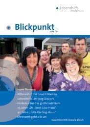 Zum Blickpunkt - Lebenshilfe Limburg Diez