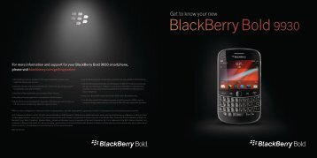 Get to know your new BlackBerry Bold 9930