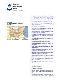 bulgaria: economic & market analyses