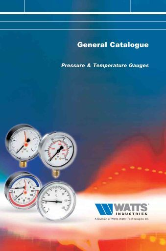 Pressure & Temperature Gauges - Watts Industries