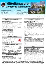 Mitteilungsblatt - Weichering