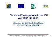 Die neue Förderperiode in der EU von 2007 bis 2013 - IMPULS MV