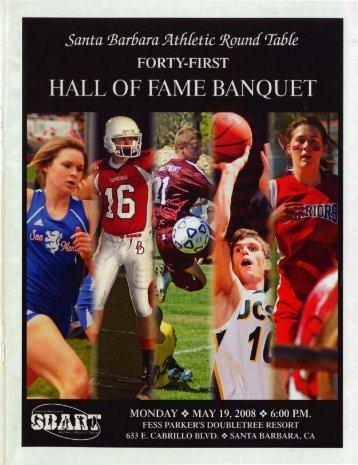1989 hall of fame banquet program pdf santa barbara athletic
