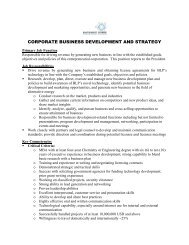 corporate business development and strategy - Black Light Power, Inc.