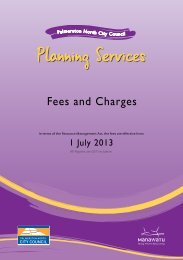 Fees and Charges - PDF - Palmerston North City Council