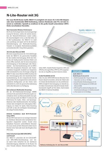 News Magazin für Fachhändler Winter | 2009|2010 - ZyXEL