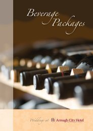 Download our Beverage Selection - Armagh City Hotel