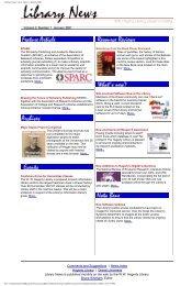 Library News Vol.2, Issue 1, January 2001 - iDEA - Drexel University
