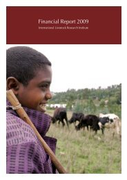Financial Report 2009 - CGIAR Library