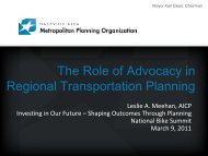 The Role of Advocacy in Regional Transportation Planning