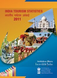 India Tourism Statistics 2011 - Ministry of Tourism